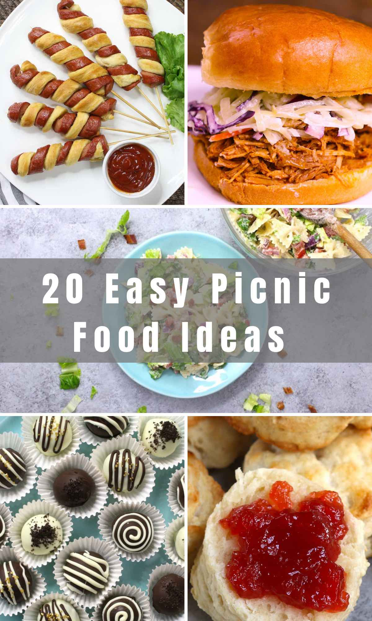 Picnics are great for meetups with friends, family outings or even a romantic date for two. We've rounded up 20 Easy Picnic Food Ideas, including popular items for kids and adults. Expand your picnic menu with a few of these unique and exciting recipes!