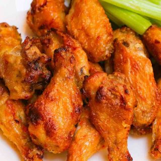 Habanero Wings are sweet and spicy chicken wings with crispy skins. They are one of my favorite picnic foods and always a crowd-pleaser.