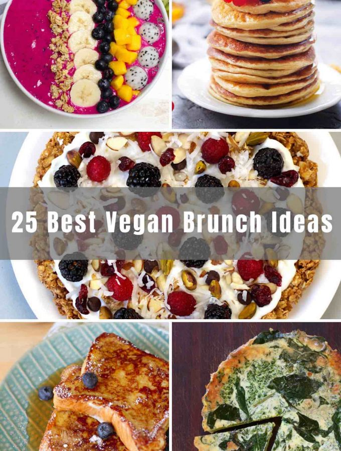 If you're preparing for a Vegan Brunch, we've got you covered. From pancakes and waffles to bagels and smoothie bowls, there are 25 of the best vegan brunch ideas and recipes below. Even your non-vegan guests are sure to enjoy these dishes